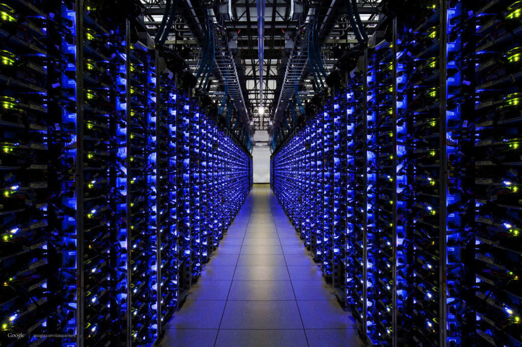 Foto van servers in datacenter